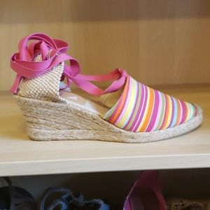 ♥️ Bakers multi color tightrope espidrille wedge
